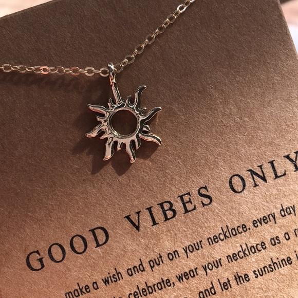 21bfbb7a5b826e Jewelry | Good Vibes Only Sunshine Sun Necklace Gold Karma | Poshmark